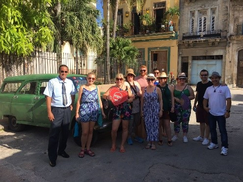 Group arriving in Cuba tour